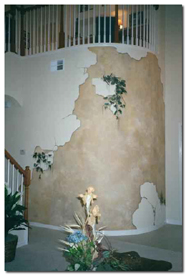 step by step on how we painted a broken wall