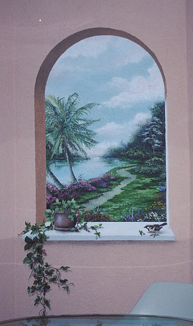 the garden path, window mural