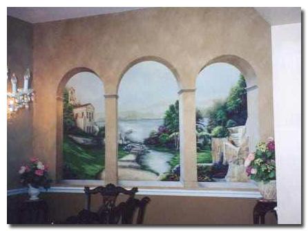 trompe l 39 oeil on pinterest murals wall murals and. Black Bedroom Furniture Sets. Home Design Ideas