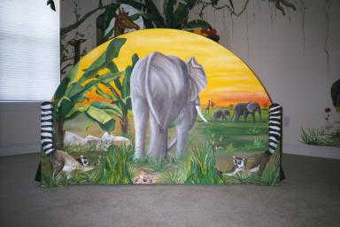 Art Effects' Jungle Bed footboard