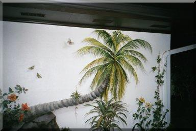 In The Backyard, trompe l'oeil mural