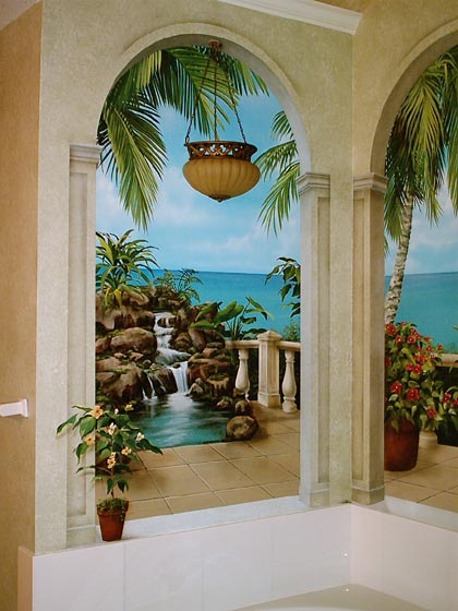 A tropical paradise spa