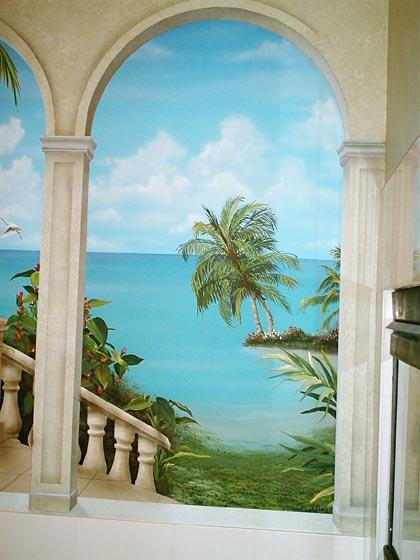 Beach Murals  Wall Murals of Tropical Beach Scenes