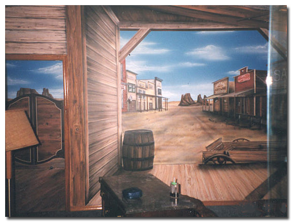 Art Effects wild west Mural